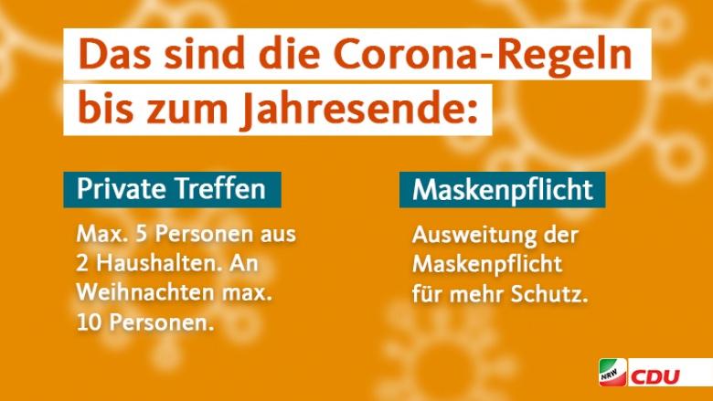 Corona-Maßnahmen bis zum Jahreswechseln II
