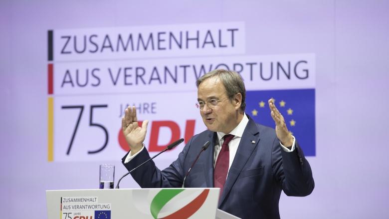 Landesvorsitzender, Ministerpräsident Armin Laschet bei seiner Festrede