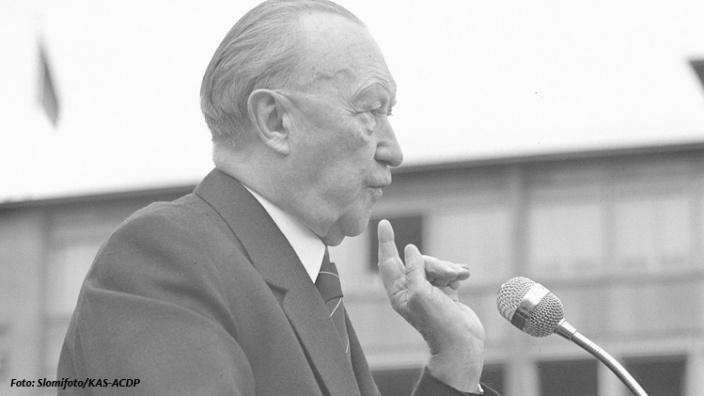 """Armin Laschet: """"Adenauer war Wegbereiter der Europäischen Integration. Sein Erbe ist aktueller denn je."""""""