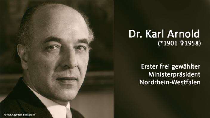 Die CDU Nordrhein-Westfalen gedenkt Karl Arnold