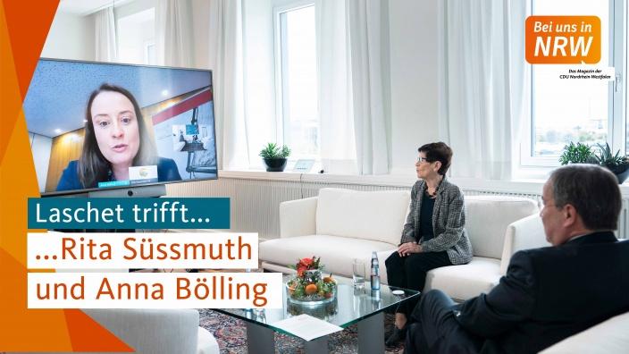 Laschet trifft Rita Süssmuth und Anna Bölling