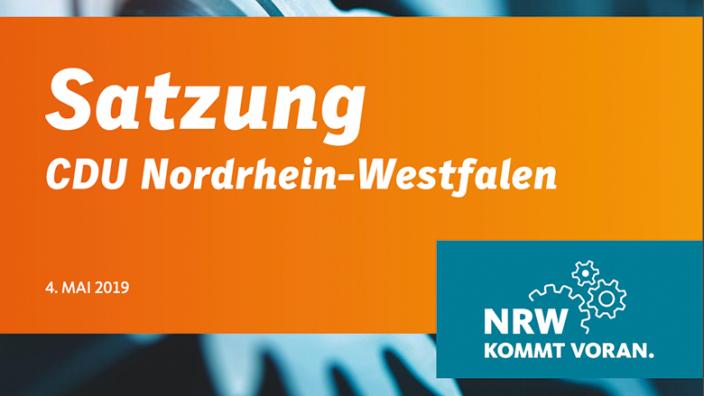 Satzung der CDU Nordrhein-Westfalen
