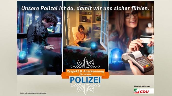 Respekt und Anerkennung für unsere Polizei!