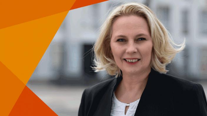Kerstin Jensen - unsere Oberbürgermeisterkandidatin für Krefeld.