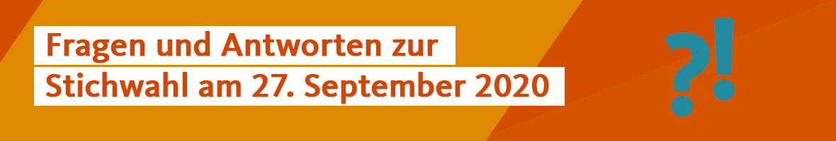 Stichwahl am 27. September 2020