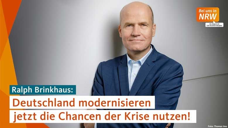 ?Deutschland modernisieren ? jetzt die Chancen der Krise nutzen?