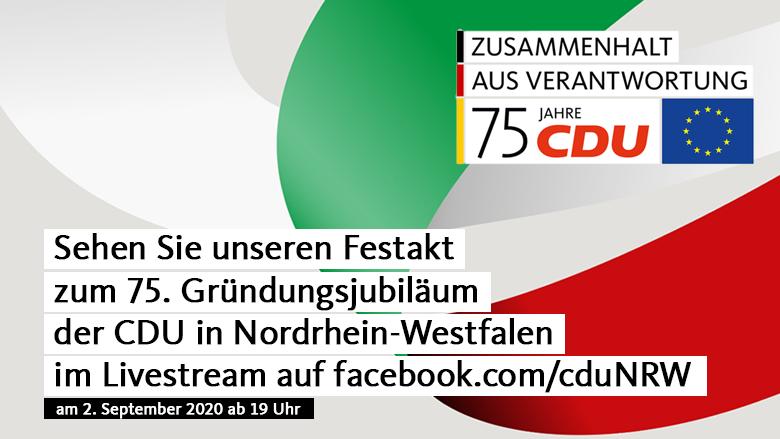 Livestream 75 Jahre CDU