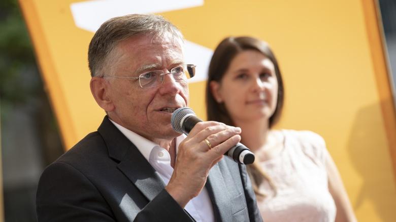 Hans-Jürgen Petrauschke und Natalie Goldkamp