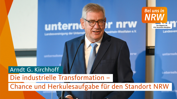 Arndt G. Kirchhoff - Präsident der Unternehmer NRW