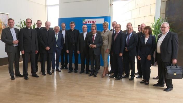 Spitzengespräch von Christlich-Demokratischer Union und katholischen Bischöfen